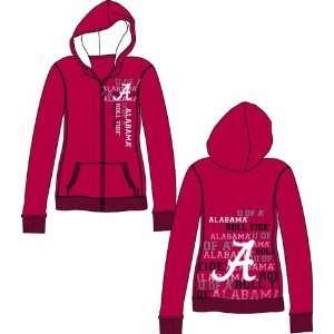 Crimson Tide Bama Womens Hooded Sweatshirt Jacket