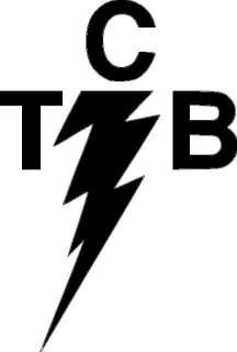 TCB Elvis lightning bolt vinyl sticker truck band 422