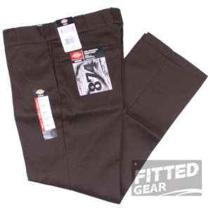 Mens CLASSIC 874 DARK BROWN DB Straight Leg Crease Work Pants Trousers