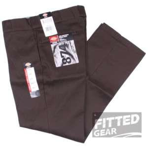 Mens CLASSIC 874 DARK BROWN DB Straight Leg Crease Work Pants Trousers