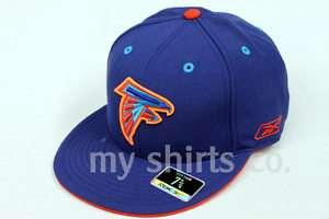 Atlanta Falcons NFL Reebok Blue Orange Fitted Cap NEW
