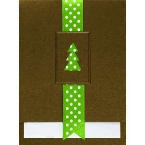 Birchcraft Studios 1238 Polka Dot Christmas Tree   Olive