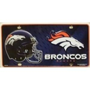 Denver Broncos NFL Football License Plate Plates Tags Tag auto vehicle