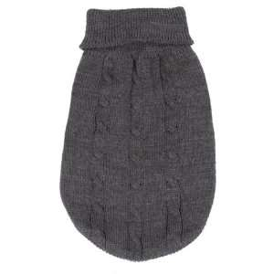 ESC Basic Cable Knit Sweater Xlg Gray