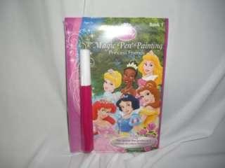 DISNEY PRINCESS FRIENDS MAGIC PEN COLORING BOOK NEW #1