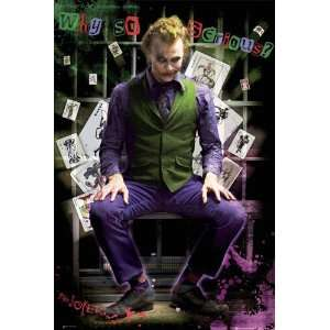 Batman ~ The Dark Knight ~ Heath Ledger ~ The Joker ~ Approx 24 X 36