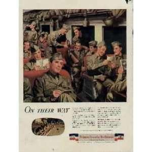Troop Train.  1944 Pennsylvania Railroad War Bond Ad, A1987A