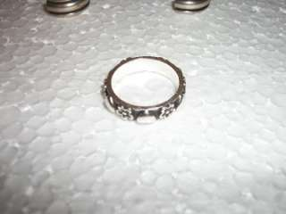 James Avery Sterling Silver Pieces     5 Rings & 1 Chain