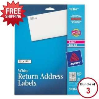 Avery Return Address Label   AVE18167   3 Item Bundle