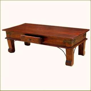 Traditional Solid Wood Handmade Drawer Sofa Coffee Cocktail Table