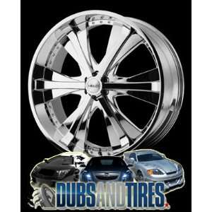 20 Inch 20x9 HELO wheels HE869 Chrome wheels rims