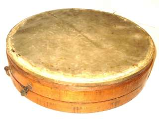 1905 HARMONY Wooden Parade Drum TONK BROS. 15.5x 3.5 Piccalo