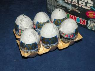 Star Wars Lot of 6 Tombola Milk Chocolate Eggs with Toys Inside and