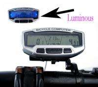 Bicycle Bike Cycle Computer Odometer Speedometer Light