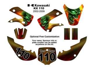Kawasaki KLX 110 2002 09 MX Bike Decal Kit Color Demon