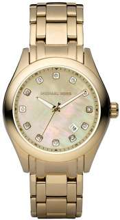 AUTHENTIC MICHAEL KORS MK5310 GOLD CRYSTAL MOTHER OF PEARL LADIES