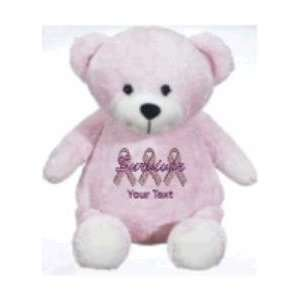 embroidered Breast Cancer Survivor pink support ribbons Toys & Games