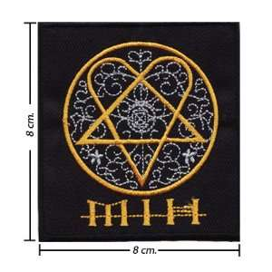 Him Heartagram Music Band Logo I Embroidered Iron on Patches Free
