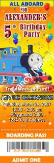 THOMAS THE TANK ENGINE TRAIN TICKET BIRTHDAY PARTY INVITATIONS CUSTOM