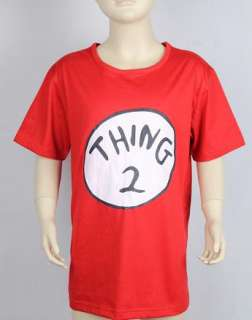 DR SEUSS CAT IN THE HAT THING 1 Or 2 Kids Red T shirt Shirt Costume