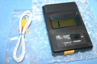 Probe Thermocouple Meter Thermometer Single Input LCD