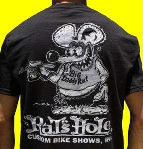 Rats Hole Black World Famous Big Daddy Rat logo