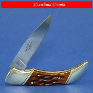 Rough Rider Small Lockback Knife   Jigged Bone Handles
