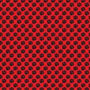 PAW PRINT RED & BLACK PATTERN Vinyl Decals 3 Sheets 12x12