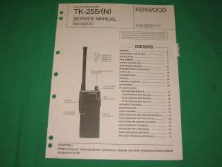 Kenwood radio service repair manual TK 255 N 255N VHF