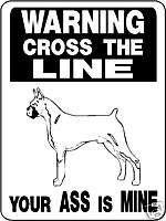 BOXER DOG SIGN GUARD DOG BOXER DECAL Aluminum 2263
