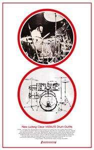 John Bonham LUDWIG Vistalite DRUMS Led Zeppelin POSTER