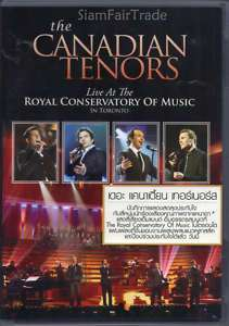 Canadian Tenors Live Royal Conservatory Thai DVD New
