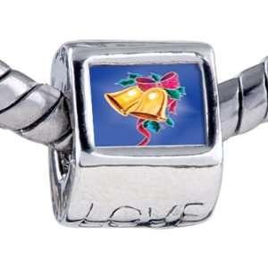 com Christmas Gifts Pandora Style Bead Holly Bells Beads Fits Pandora