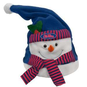 8 NCAA Ole Miss Rebels Animated Musical Christmas Snowman