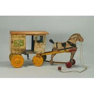 Bordens Milk Wagon & Horse Toys & Games