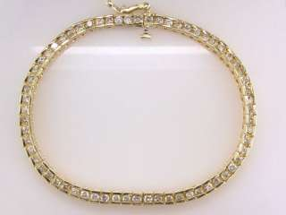 Diamond 1.50ct 14K Yellow Gold Ladies Tennis Bracelet Jewelry