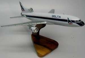 Lockheed L 1011 Delta Airlines Plane Wood Model Big FS