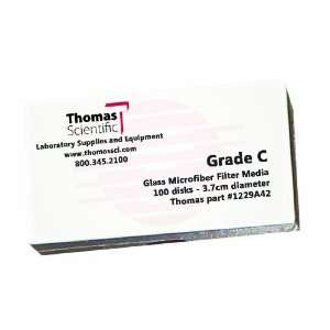 Thomas C3700 Borosilicate Glass Microfiber Filter, 1.2 Micron, Fast