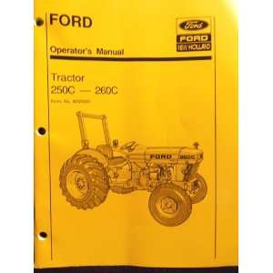 Ford Operators Manual Tractor 250C 260C Ford New Holland