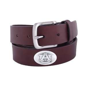NCAA Auburn Tigers Brown Leather Concho Belt, 32 Sports
