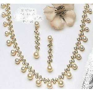 Bridal Wedding Prom Bridesmaid Ball Gown Necklace Earrings