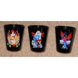Lady Death Chastity Purgatori Mans Ruin Shotglass Set