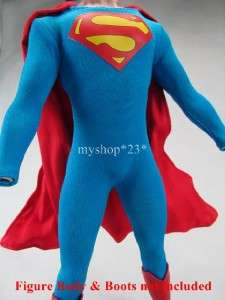 NEW HOT TOYS SIDESHOW 1/6 12 SUPERMAN CHRISTOPHER REEVE COSTUME WITH