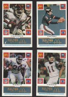24 CARD TEAM SET NEW YORK GIANTS 1986 MCCONKEY BURT LT