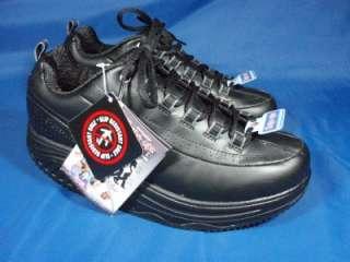 NEW Womens SKECHERS WORK SHAPE UPS SR Black Leather Walking Shoes 9 1