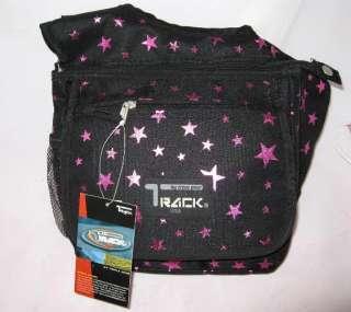 Medium Messenger Sling Body Bag Backpack Black Stars
