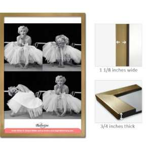 Gold Framed Marilyn Monroe Poster Ballerina 4 Shots