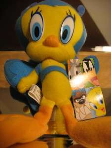 LoONEY TuNES TWEETY BIRD BLuE BUTTERFLY PLuSH DoLL  NwT