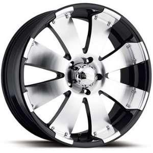 Ultra Mako 18x8.5 Machined Black Wheel / Rim 8x180 with a 35mm Offset