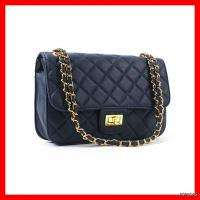 NEW Black Quilted Gold Chains Basic Handbags Shoulder Crossbody Bags